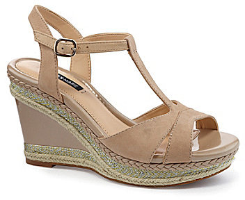 Alex Marie Jenna T-Strap Wedge Sandals