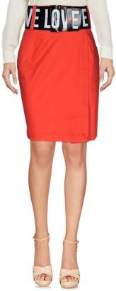 Love Moschino Knee length skirts