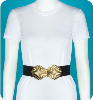 Gold Shell Stretch Belt