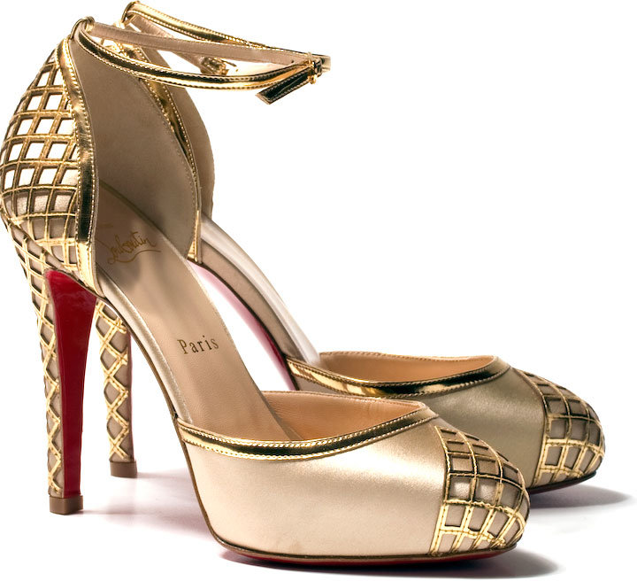 Christian Louboutin Embroided satin shoe Annees Folles