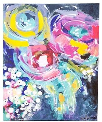 "Boston Warehouse Blue Floral Wall Art - 16\"" x 20\"""