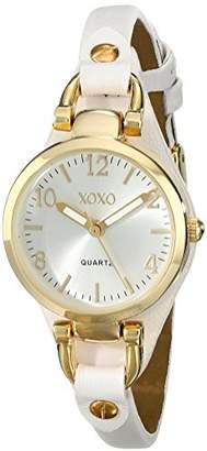 XOXO Women's XO3398 Analog Display Analog Quartz White Watch