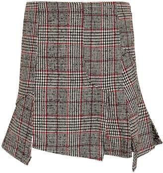 McQ Short Cut Up Zip Skirt