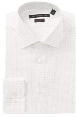 John Varvatos Diamond Print Regular Fit Dress Shirt