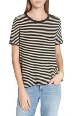 Eileen Fisher Organic Linen Blend Stripe Top