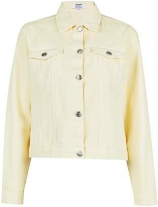 Dorothy Perkins Womens Lemon Yellow Denim Jacket