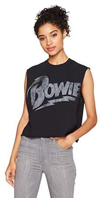 Goodie Two Sleeves Junior's David Bowie Distressed Logo Tank