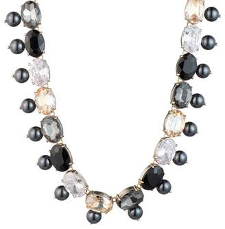 """Carolee Cultured Freshwater Pearl & Stone Collar Necklace, 18"""""""
