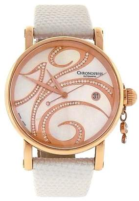 Chronoswiss Swing CH 2821LLRSW 18K Rose Gold Mother of Pearl with Diamonds Dial Automatic 38mm Womens Watch