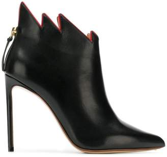 Francesco Russo jagged collar boots