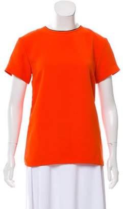 Victoria Beckham Victoria Silk Short Sleeve Top
