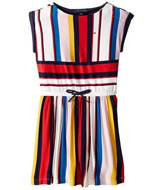 Tommy Hilfiger Adaptive Knit Dress with VELCRO(r) Brand Closure and Elastic Waist (Little Kids/Big Kids)