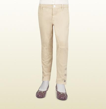 Gucci Stretch Cotton Satin Riding Pant