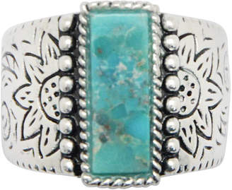 Barse FINE JEWELRY Silver Elements by Womens Lab Created Blue Turquoise Sterling Silver Cocktail Ring
