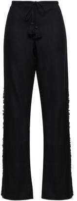 Figue Ipanema Fringed Silk-blend Wide-leg Pants