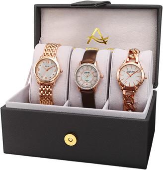August Steiner Women's Set Of 3 Watches
