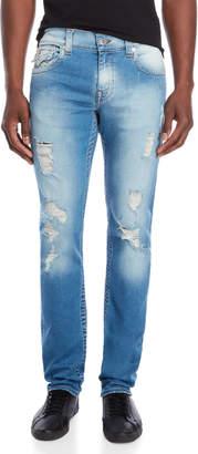True Religion Distressed Slim Fit Jeans