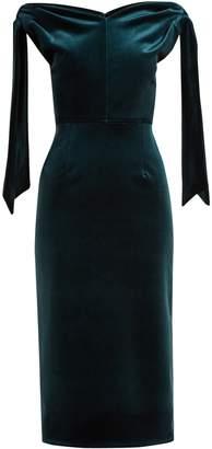 Emilio De La Morena Belle off-the-shoulder velvet dress
