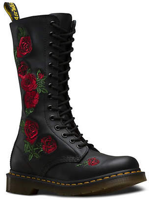 Dr. Martens Vonda Embroidered Leather Boots