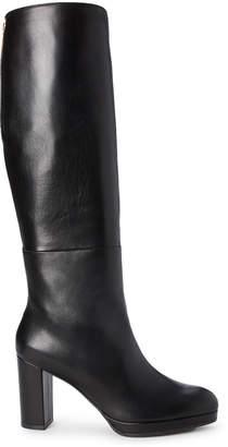 Stuart Weitzman Black Marcella Leather Tall Boots