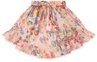 Zimmermann Lovelorn Floral Skirt