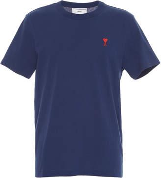 Ami Logo Cotton T-Shirt