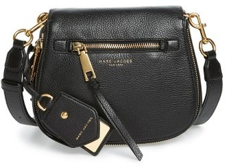 Marc Jacobs Small Recruit Nomad Pebbled Leather Crossbody Bag - Black $375 thestylecure.com
