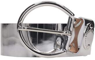 Isabel Marant Silver Mirrored Leather Zoy Belt