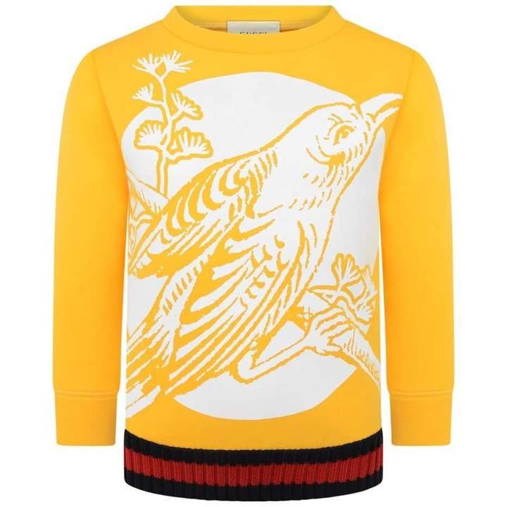 GUCCIYellow Neoprene Bird Sweater