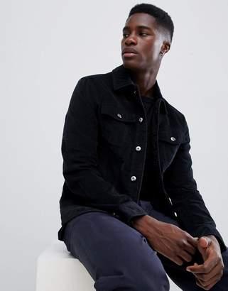 Kiomi Cord Jacket In Black