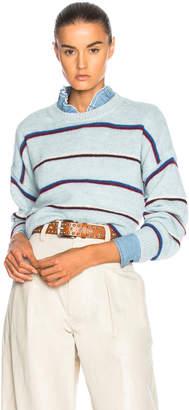 Etoile Isabel Marant Gatlin Thin Striped Alpaca Sweater