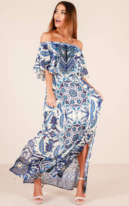 Showpo Soft And Gentle dress in navy print