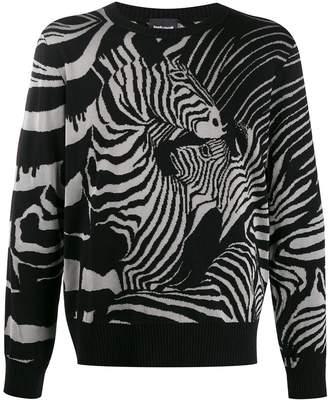 Just Cavalli zebra print jumper