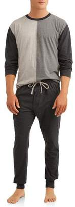 Hanes Men's Lounge Set, Long Sleeve Crew Top & Jogger Pant