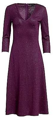 St. John Women's Evening Milano Sequin Knit V-Neck Dress