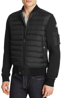Moncler Knit Baseball Down Jacket $870 thestylecure.com