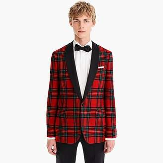 J.Crew Ludlow Slim-fit dinner jacket in tartan stretch wool