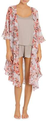Midnight Bakery Coral Floral Duster Cardigan