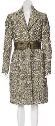 Etro Knee-Length Jacquard Coat