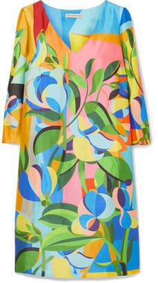 Mary Katrantzou Shea Printed Satin-faille Mini Dress - Blue