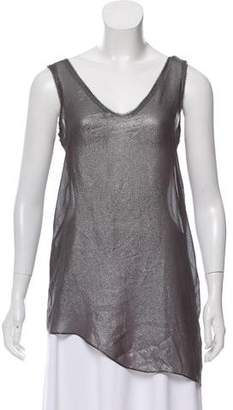 Helmut Lang Metallic Sleeveless Top