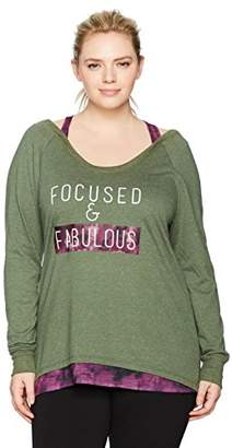 Fruit of the Loom Fit for Me by Women's Plus Size Active Ballet 2fer Top