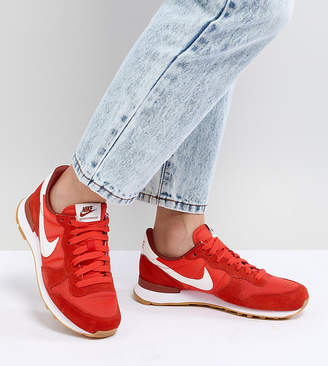 Nike Internationalist Trainers In Red
