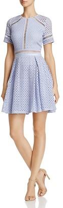 AQUA Circle Lace Dress - 100% Exclusive $98 thestylecure.com