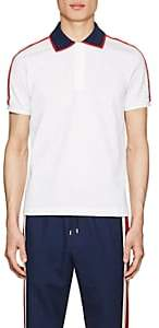 Gucci Men's Logo-Detailed Cotton Piqué Polo Shirt - White
