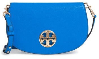 Tory Burch Jamie Convertible Leather Clutch - Blue/green