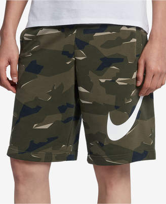 Nike Men's Sportswear French Terry Camo-Print Shorts