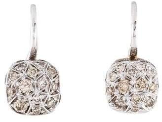 Pomellato 18K Brown Diamond Nudo Ear-Clip Earrings