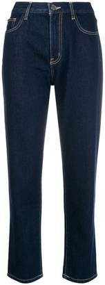 Current/Elliott cropped straight leg jeans