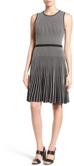 Anne Klein Women's Anne Klein Stripe A-Line Knit Dress